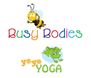 busybodies and yoyo yoga logos