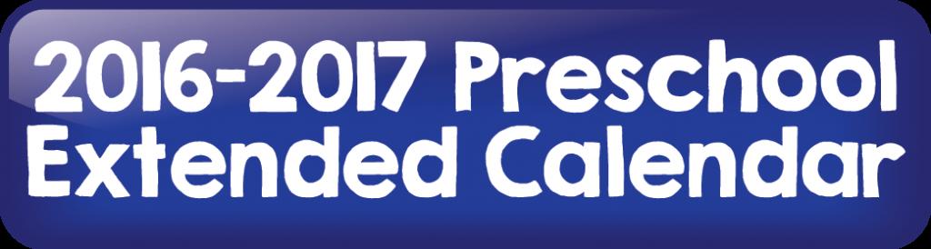 2016-2017 Preschool Extended Day Calendar